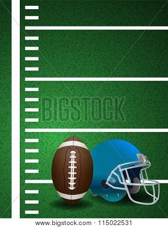 American Football Field Ball Helmet Background