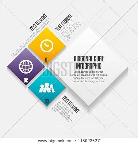 Diagonal Cube Infographic