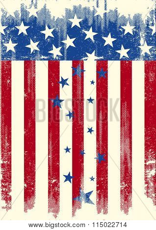 Patriot rain of stars. The Stars are falling of the american flag. is it the decline of the USA...