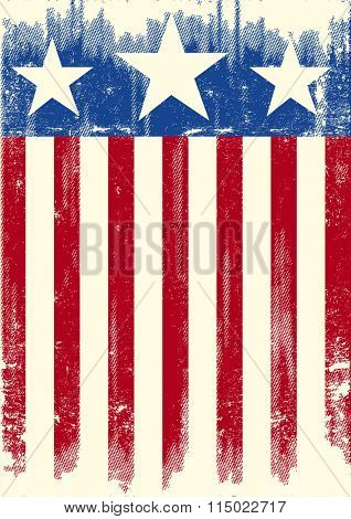 American theme grunge flag. A american grunge background