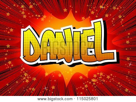 Daniel - Comic Book Style Male Name.