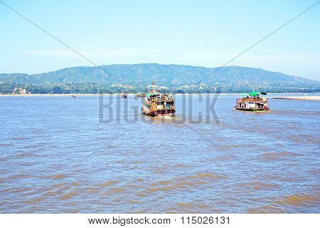 The Irrawaddy River or Ayeyarwady River is a river that flows from north to south through Myanmar. It is the country's largest river and most important commercial waterway.