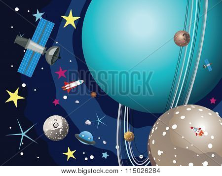 Uranus Planet In The Space