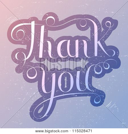 Thank you lettering  trendy colors