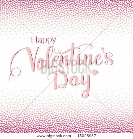 Valentines day greeting card with tiny hearts