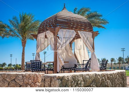 Egypt, Sharm El Sheikh, March 1, 2013, Concorde El Salam: Tent In A Park, Recreation Area In Summer