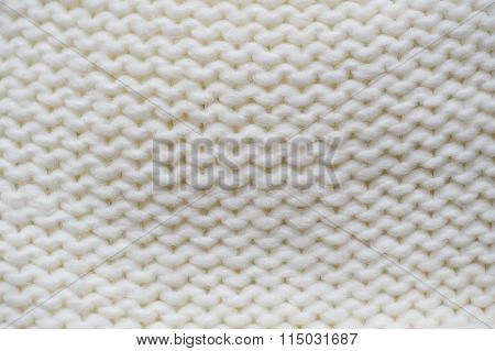 Texture Of White Knitted Garments Purl Loop