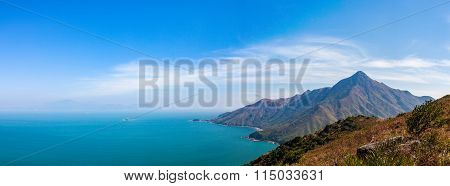 ocean and mountain, hong kong