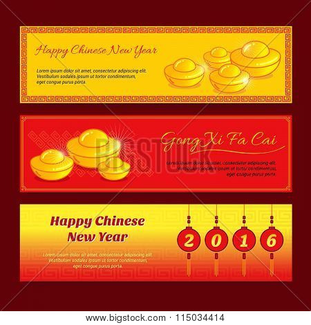 Set Of Chinese New Year Banner
