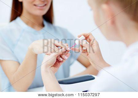 Visiting manicurist