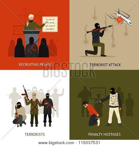 Terrorism design concept set