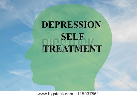 Depression Self Treatment Concept