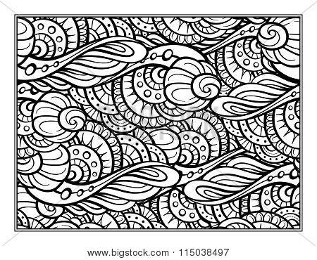 Fantasy decorative coloring page