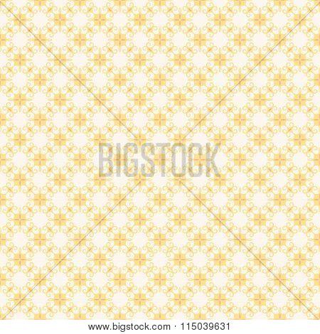 retro yellow flora pattern