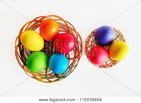 Baskets With Easter Eggs