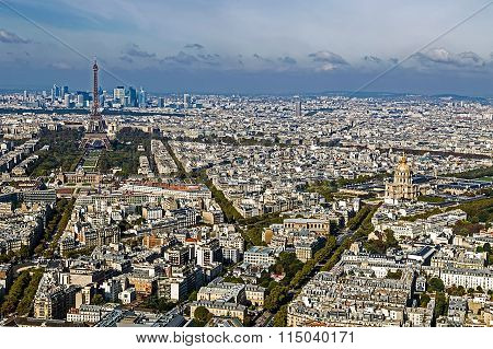 Aerial View, From Montparnasse Tower, With Eiffel Tower