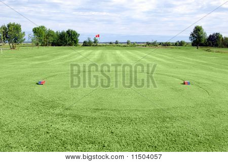 golf green field tee area
