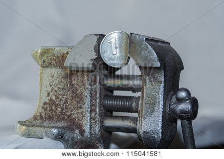 Rouble In Old Vise