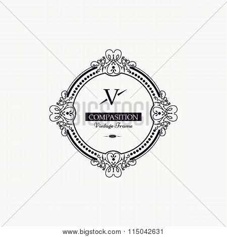 Monogram luxury frame