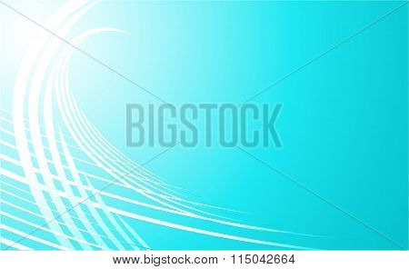 Beautiful  white  Wave  Lines On   Blue Sky  Background.  Abstract  Background.
