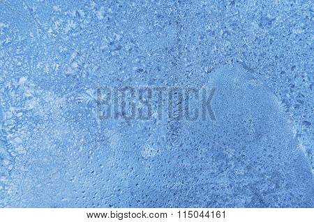 Natural Ice Pattern On Glass