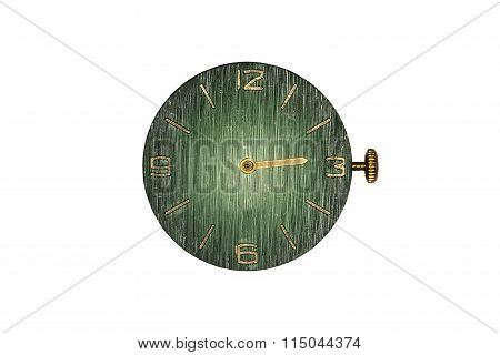isolated  watch dial