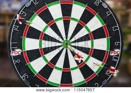 Darts Board Close-up