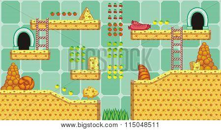 platform game tileset 6
