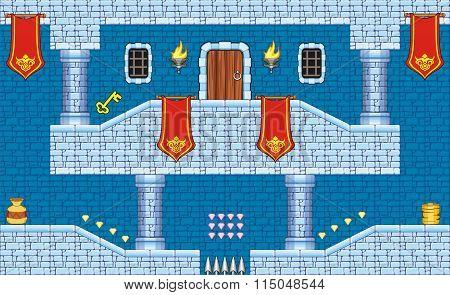 platform game tileset 9