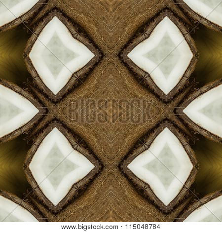 Seamless texture to the dining room tablecloth. Texture coconut. Tropical motif print.