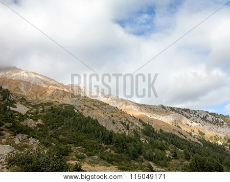 Beautiful Authentic Rocky Landscape Of The Pyrenees. Bansko, Bulgaria.