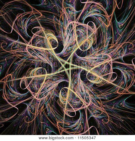 Flowing Fractal Star