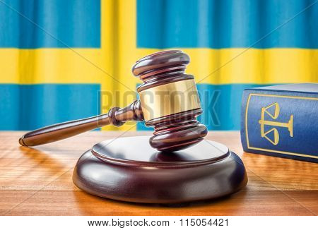 A Gavel And A Law Book - Sweden