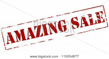Rubber stamp with text amazing sale inside vector illustration