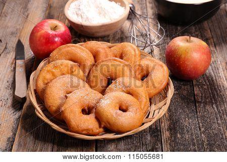 apple fried in a batter