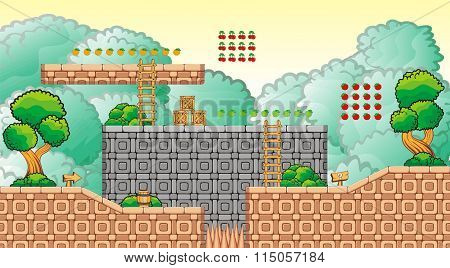 Platform Game Tileset 17.eps