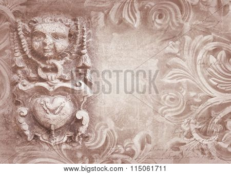 Architectural Details. Fragment Of Ornate Relief.