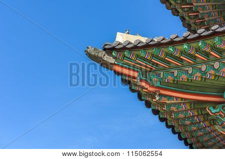 Pavilion At Gyeongbokgung Palace In Seoul ,korea