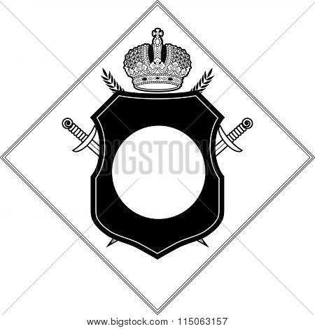 Vector coat of arms design template