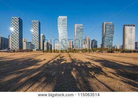 Central Park In Songdo International Business District , Incheon South Korea