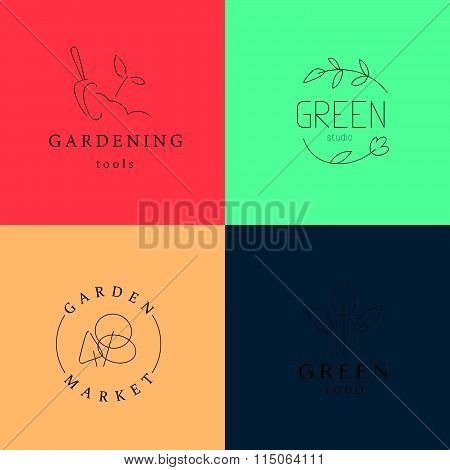 Gardening service brand mark graphic sample.