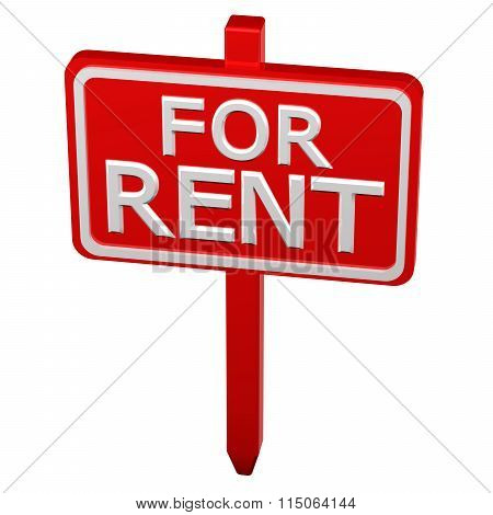 Pillar With Sign For Rent