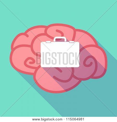 Long Shadow Brain With  A Breiefcase