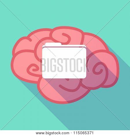 Long Shadow Brain With A Folder