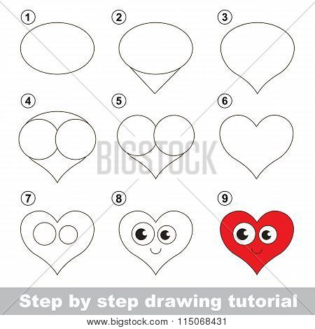 Drawing tutorial. How to draw a Heart