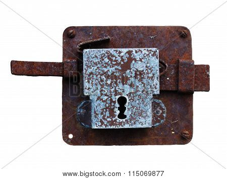 Antique rusty lock