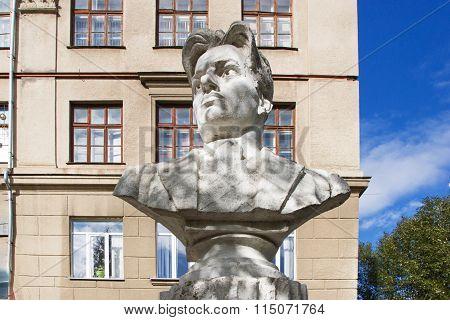 Bust Mayakovsky Vladimir Volgograd, Russia