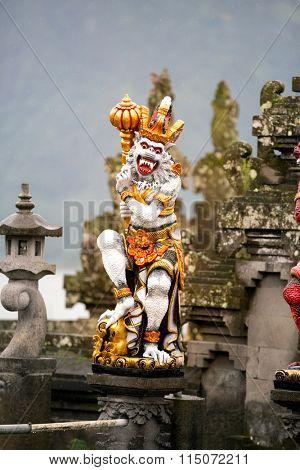 demon statue in Hindu temple in Bali , Indonesia