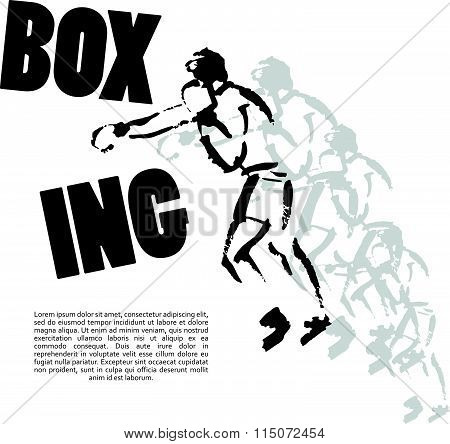 Vector hand drawn boxer sketch