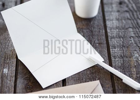 Blank invitation greetings card